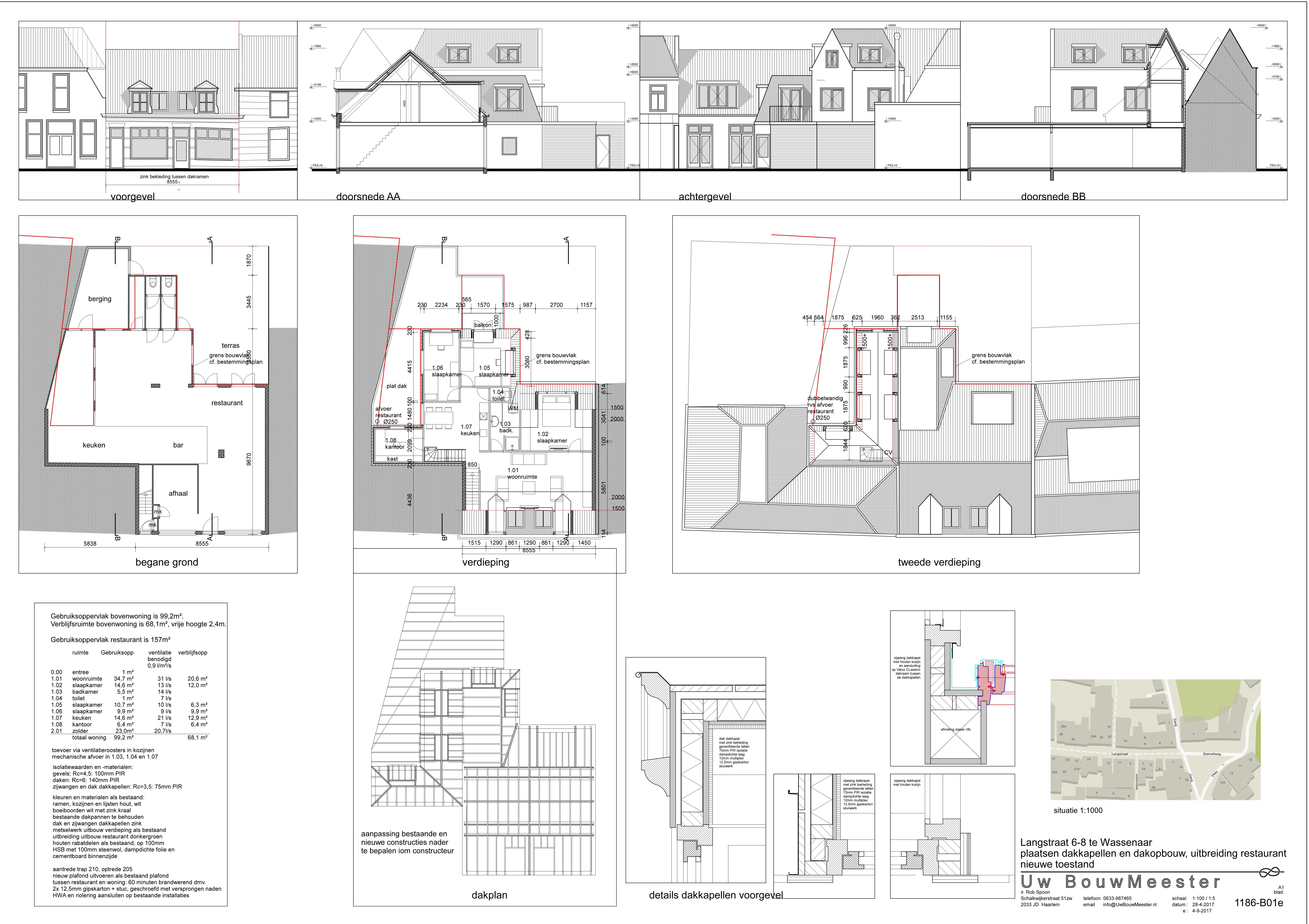 verbouwing en uitbreiding restaurant en bovenwoning